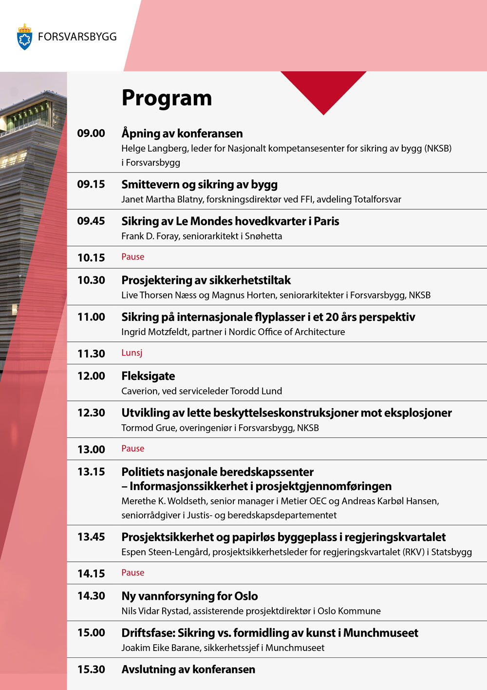 Program for Sikringskonferansen 2020